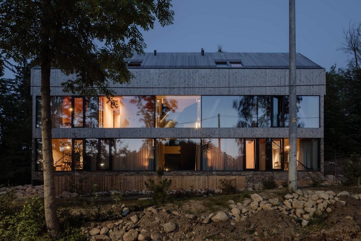 Самое интересное : Оригинальный проект домов-близнецов в Польше