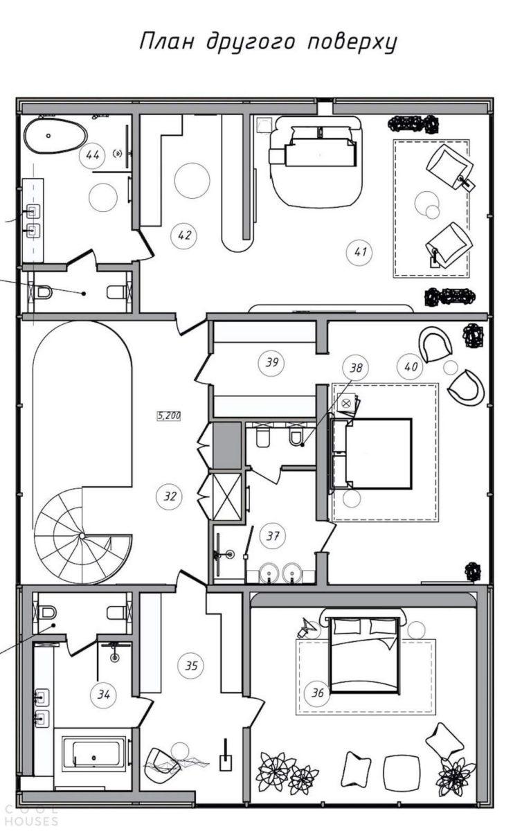 Самое интересное : Минималистский дизайн дома в Киевской области